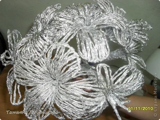 Коллективная работа, Мастер-класс Плетение: Цветы из фольги + МК Фольга. Фото 1