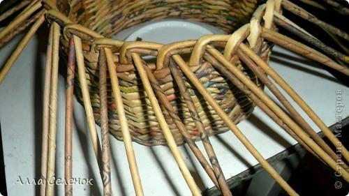Мастер-класс, Поделка, изделие Плетение: Мои плетеночки.Небольшой МК на загибку. Бумага газетная. Фото 3