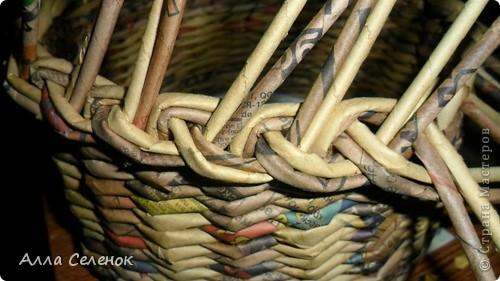 Мастер-класс, Поделка, изделие Плетение: Мои плетеночки.Небольшой МК на загибку. Бумага газетная. Фото 4