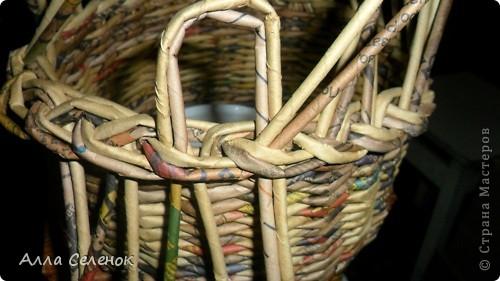 Мастер-класс, Поделка, изделие Плетение: Мои плетеночки.Небольшой МК на загибку. Бумага газетная. Фото 5