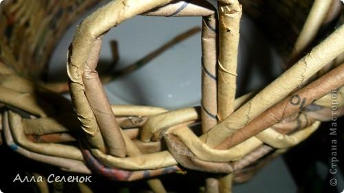 Мастер-класс, Поделка, изделие Плетение: Мои плетеночки.Небольшой МК на загибку. Бумага газетная. Фото 6