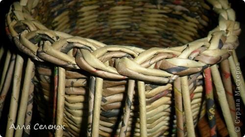 Мастер-класс, Поделка, изделие Плетение: Мои плетеночки.Небольшой МК на загибку. Бумага газетная. Фото 7