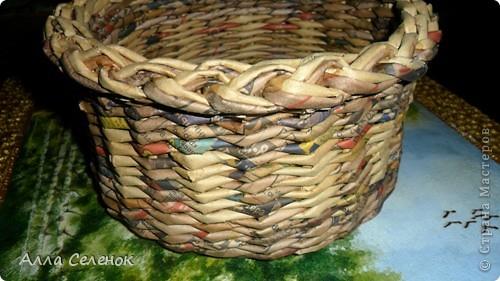 Мастер-класс, Поделка, изделие Плетение: Мои плетеночки.Небольшой МК на загибку. Бумага газетная. Фото 2