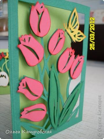 Мастер класс открытки с 8 марта