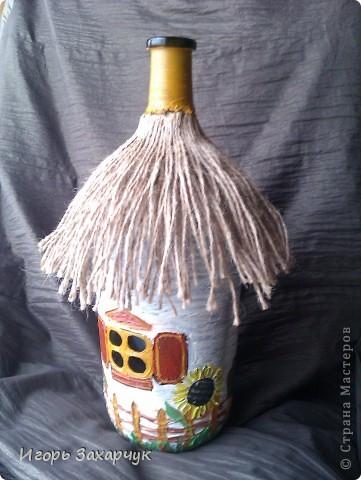 Декор предметов Роспись: Декор бутылок Бутылки стеклянные. Фото 2