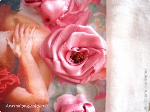 Мастер-класс Вышивка: Розочка с открытой серединкой Бисер, Ленты, Нитки. Фото 1