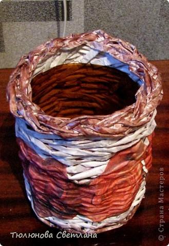 Поделка, изделие Плетение: мои новые плетушки Бумажные полосы.  Фото 9.