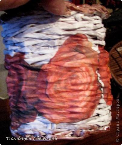 Поделка, изделие Плетение: мои новые плетушки Бумажные полосы.  Фото 10.