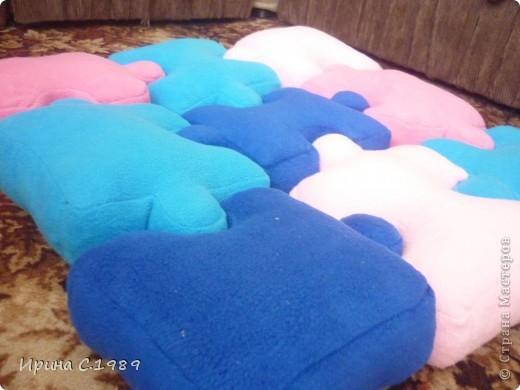 Мастер-класс Шитьё: Подушки пазлы Ткань. Фото 9