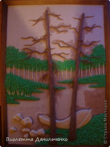 Мастер-класс Лепка: МК по лепке картины за 2 часа(легкий способ) Тесто соленое Отдых. Фото 20