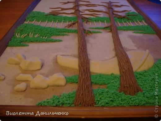 Мастер-класс Лепка: МК по лепке картины за 2 часа(легкий способ) Тесто соленое Отдых. Фото 22