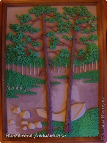 Мастер-класс Лепка: МК по лепке картины за 2 часа(легкий способ) Тесто соленое Отдых. Фото 28