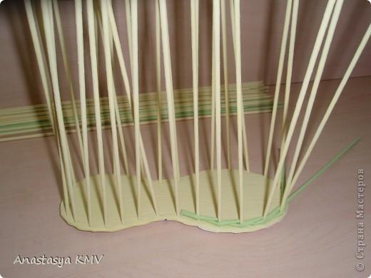Мастер-класс, Поделка, изделие Плетение: Башмак плетеный из бумаги МК (мастер-класс). Бумага. Фото 7