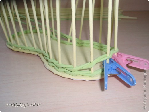 Мастер-класс, Поделка, изделие Плетение: Башмак плетеный из бумаги МК (мастер-класс). Бумага. Фото 8