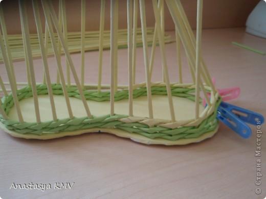 Мастер-класс, Поделка, изделие Плетение: Башмак плетеный из бумаги МК (мастер-класс). Бумага. Фото 9