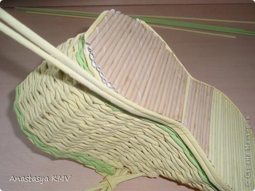 Мастер-класс, Поделка, изделие Плетение: Башмак плетеный из бумаги МК (мастер-класс). Бумага. Фото 17