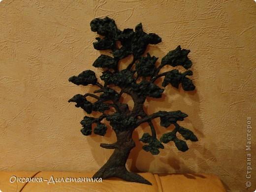 Мастер-класс Вырезание, Папье-маше: МК по созданию объемного дерева (много фото!) Бумага, Гуашь, Салфетки. Фото 7
