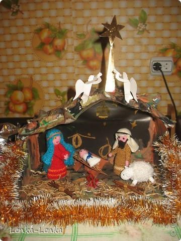 Рождественская композиция своими руками для детского сада