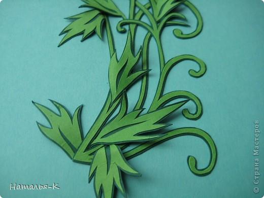 Открытка Бумагопластика, Квиллинг: Цветы. Бумажные полосы, Картон. Фото 4