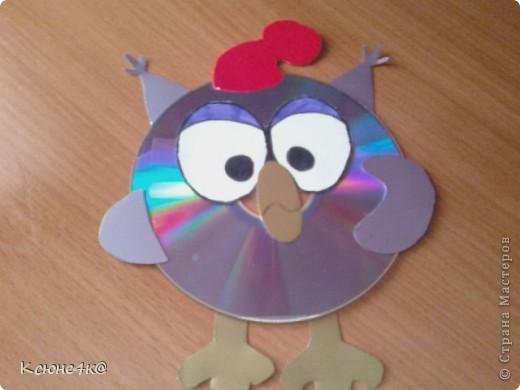 Поделки из дисков пошагово