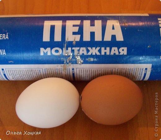 Мастер-класс, Поделка, изделие: Пасхальные яйца ( заготовки с монтажной пеной) Скорлупа яичная Пасха. Фото 1