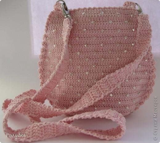 Гардероб Вязание крючком: Маленькая сумочка с бисером. Бисер, Пряжа. Фото 1