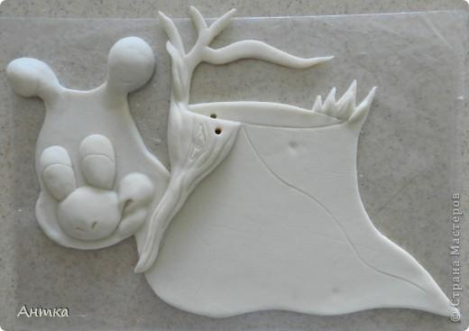 Картина, панно, рисунок Лепка: Рогатый пень Тесто соленое. Фото 9