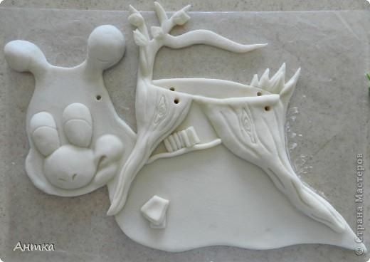 Картина, панно, рисунок Лепка: Рогатый пень Тесто соленое. Фото 10