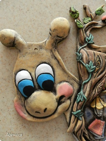 Картина, панно, рисунок Лепка: Рогатый пень Тесто соленое. Фото 3