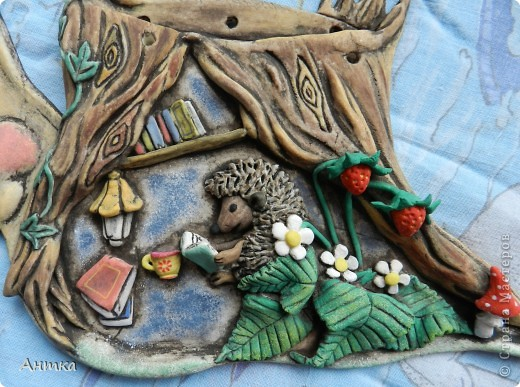 Картина, панно, рисунок Лепка: Рогатый пень Тесто соленое. Фото 2