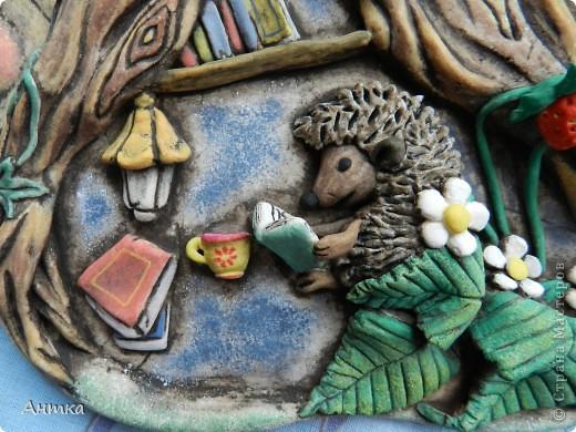Картина, панно, рисунок Лепка: Рогатый пень Тесто соленое. Фото 6