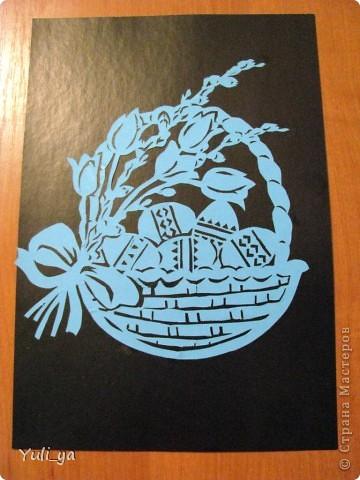 Поделка, изделие Вытынанка: ...весняні й Великодні витинанки... Бумага Пасха. Фото 5