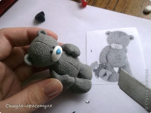 Modélisation Master class: Faire ours en peluche à partir de pâte polymère plastique. Photo 15