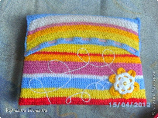 Поделка, изделие Вязание крючком: Безопасный чехол для нетбука или.