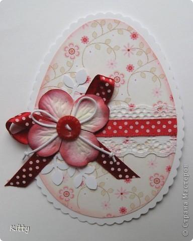 Пасхальные яйца-открытки из ткани