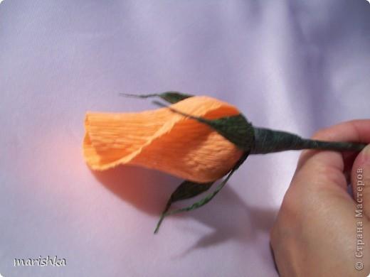 Мастер-класс, Свит-дизайн Бумагопластика: Мои бутончики роз МК Бумага гофрированная. Фото 1