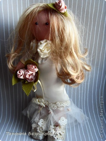 Куклы Шитьё: Свадебные куклы. Ткань Свадьба. Фото 2