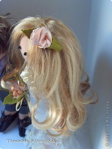 Куклы Шитьё: Свадебные куклы. Ткань Свадьба. Фото 8
