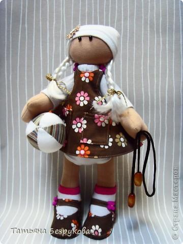 Игрушка, Куклы Шитьё: Кукла девочка  Лизонька... Ткань. Фото 2