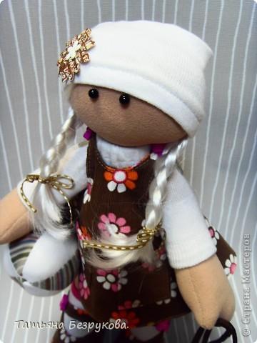 Игрушка, Куклы Шитьё: Кукла девочка  Лизонька... Ткань. Фото 1