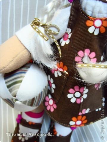 Игрушка, Куклы Шитьё: Кукла девочка  Лизонька... Ткань. Фото 3