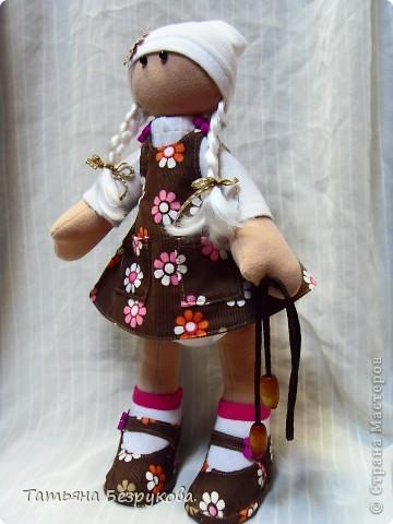Игрушка, Куклы Шитьё: Кукла девочка  Лизонька... Ткань. Фото 6