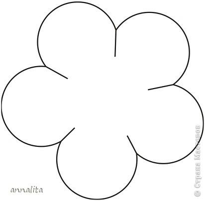 Как сделать цветок из бумаги шаблон