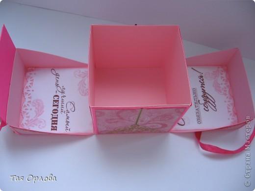 Открытка, Скрапбукинг, Упаковка Аппликация, Ассамбляж: Маленькая коробочка для подарка Бумага, Ленты 8 марта, День рождения. Фото 9