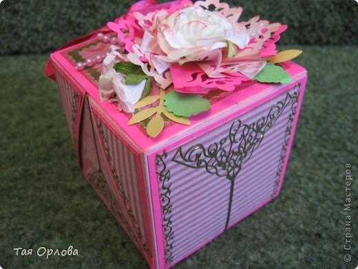 Открытка, Скрапбукинг, Упаковка Аппликация, Ассамбляж: Маленькая коробочка для подарка Бумага, Ленты 8 марта, День рождения. Фото 2
