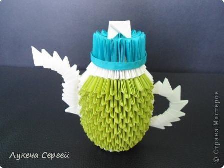 Мастер-класс Оригами модульное: Чайник первая импровизация Бумага. Фото 1
