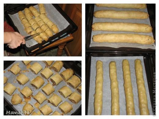 Кулинария, Мастер-класс: Песочные рулетики с изюмом и орехами. МК Вкусно, просто, быстро!. Фото 7