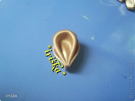 Мастер-класс, Украшение Цумами Канзаши: МК Необычный круглый лепесток Ленты, Ткань. Фото 16