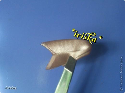 Мастер-класс, Украшение Цумами Канзаши: МК Необычный круглый лепесток Ленты, Ткань. Фото 8