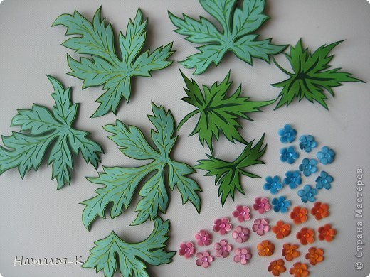 Мастер-класс Бумагопластика: Объёмные листья. Картон. Фото 1
